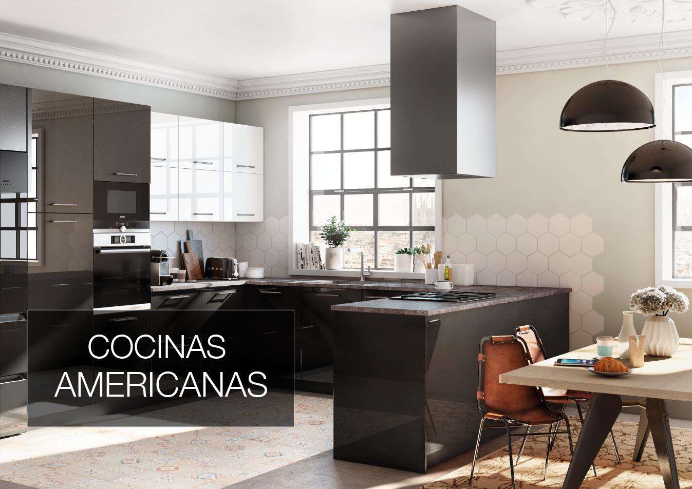 Cocinas brava cocinas de dise o cocina americana for Disenos de cocinas americanas