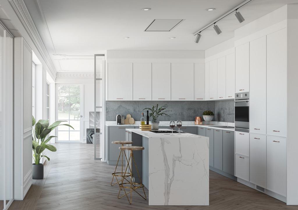 Cocinas en gris cocinas decoradas con gris cocinas - Cocinas decoradas en blanco ...