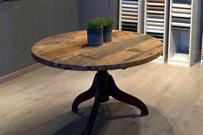 mesa redonda industrial