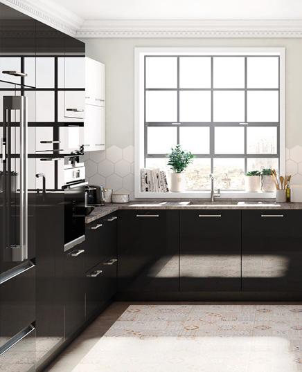 el color de los muebles de cocina crystal brillo