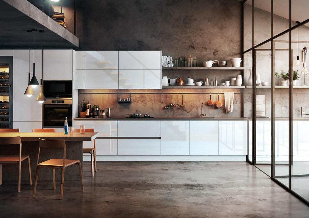 Cocinas Brava - Cocinas de diseño | Chalet moderno: Crystal Blanco ...