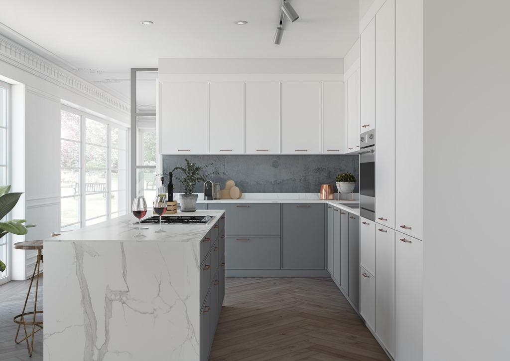 Cocinas brava cocinas de dise o elegancia cocina for Suelo cocina gris antracita