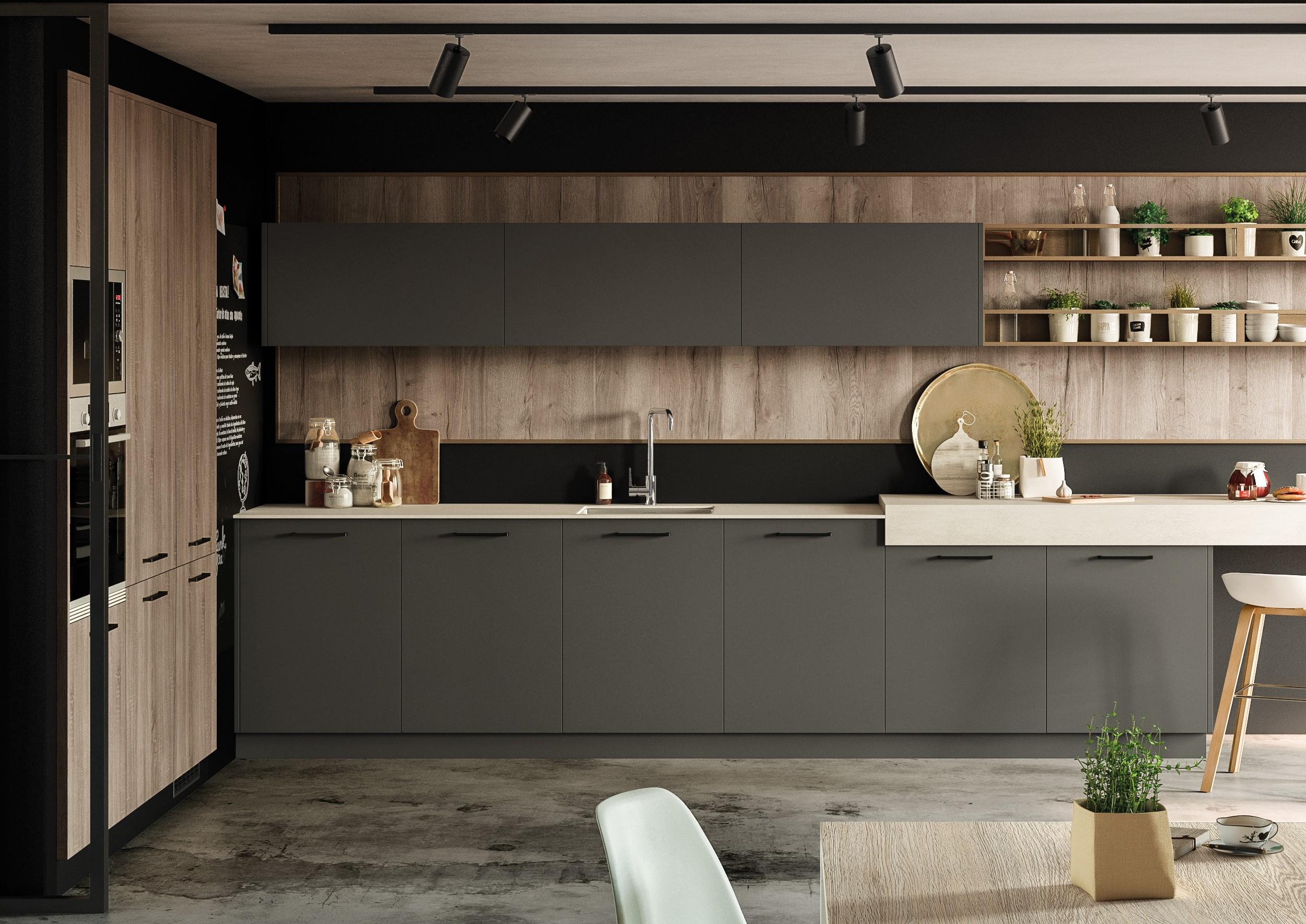 Tmatt Antracite - Cocinas Brava - Cocinas de diseño