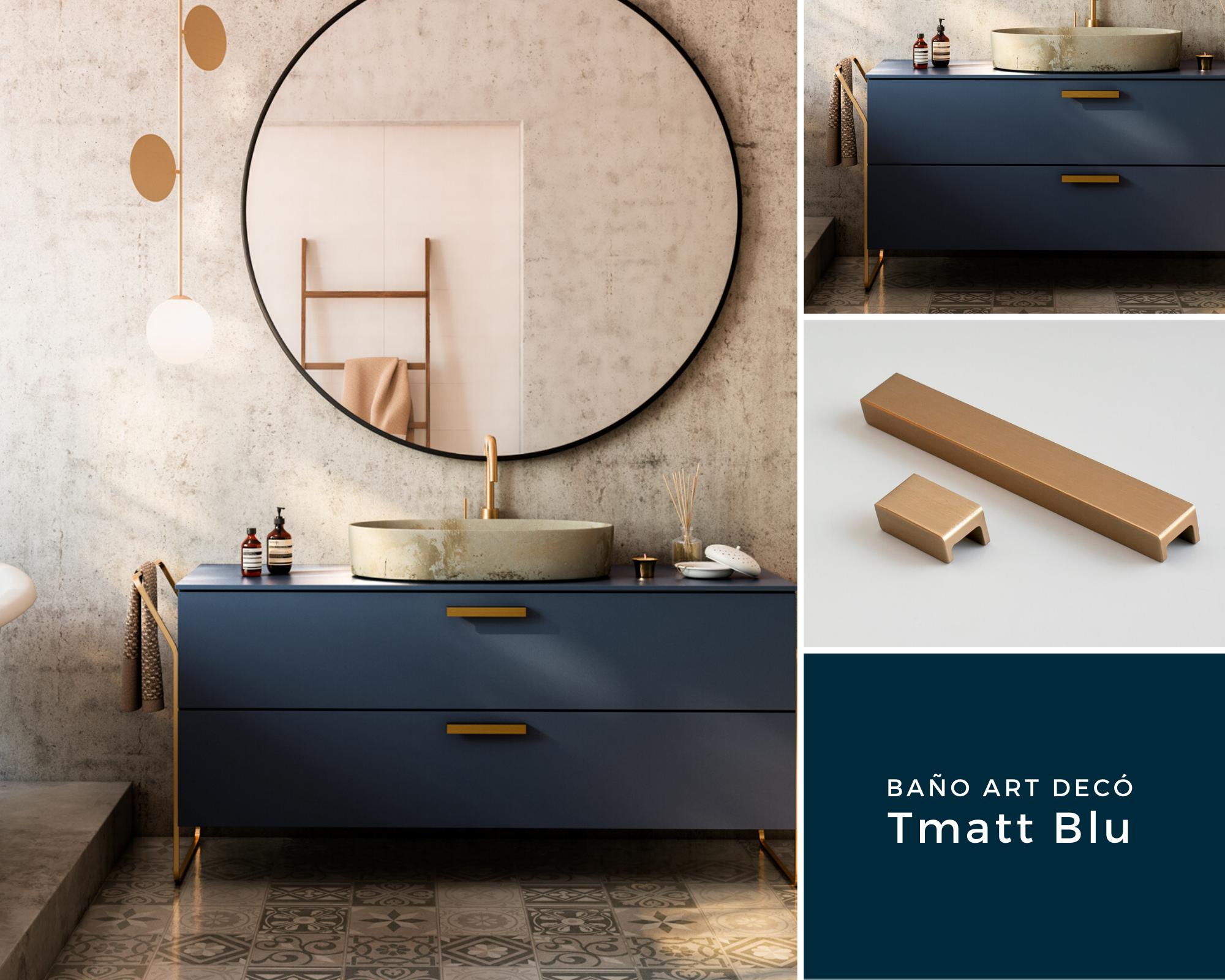Baño Art Decó Tmatt Blu